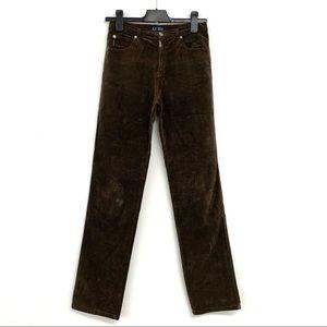 Armani Jeans Velvet Straight Leg Pant
